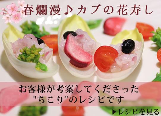 春爛漫♪ちこりのかぶの花寿司