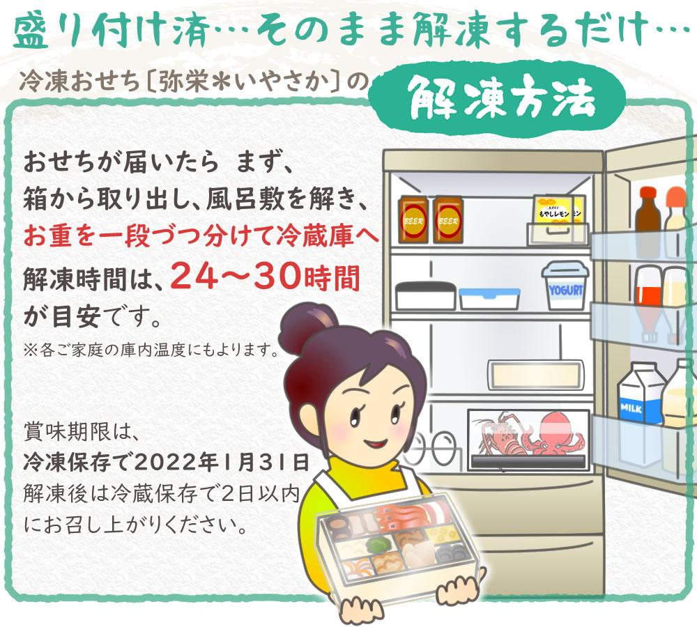 冷凍おせち*解凍方法